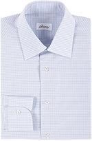Brioni Men's Micro-Checked Poplin Shirt