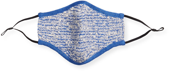 Thumbnail for your product : St. John Boucle Grid Knit Face Mask Covering