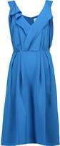3.1 Phillip Lim Wrap-effect pleated silk-satin mini dress