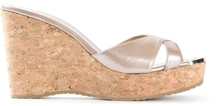 Jimmy Choo wedge heel sandals