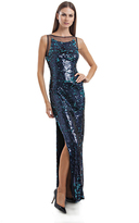 JS Collections Sleeveless Shimmering Sequins Gown 864820