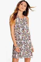 Boohoo Helene Paisley Strappy Swing Dress