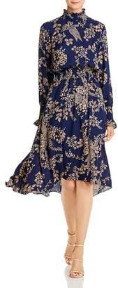 Nanette Lepore nanette Floral Smocked High/Low Dress