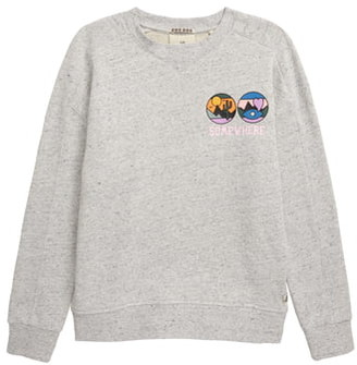 Scotch R'Belle Melange Artwork Fleece Sweatshirt