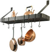 Pier 1 Imports Oiled Bronze Wall-Mount Bookshelf Pot Rack with 12 Hooks