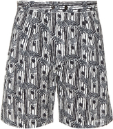 Lemaire Abstract-print cotton shorts
