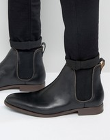 Aldo Merin Chelsea Boots In Black Leather