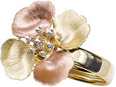 14K Tri-Color Gold Flower Ring