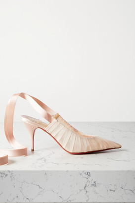 Christian Louboutin Goya Ruban 80 Chiffon And Satin Pumps - Blush