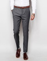 Asos Wedding Skinny Suit Trousers In Tonic
