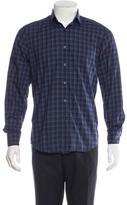 Lanvin Woven Plaid Shirt