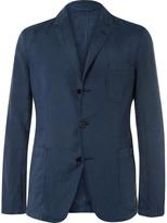 Aspesi Storm-Blue Slim-Fit Unstructured Linen Blazer