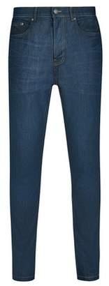 Dorothy Perkins Womens **Burton Blue Coated Carter Mock Arc Carrot Fit Jeans, Blue