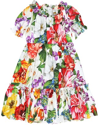 Dolce & Gabbana Floral cotton poplin dress