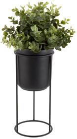 Present Time Black Tub on Stand Plant Pot