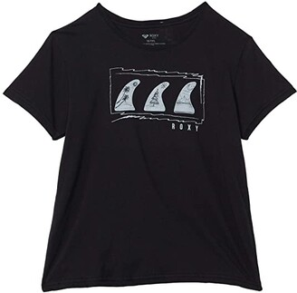 Roxy Kids Holiday Fins T-Shirt (Little Kids/Big Kids) (Anthracite) Girl's Clothing
