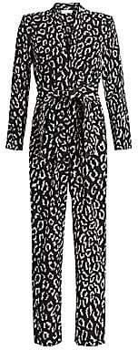 A.L.C. Women's Kieran Leopard Print Jumpsuit