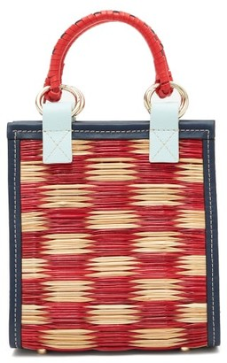 Heimat Atlantica - G Reed And Leather Cross-body Tote Bag - Red Multi