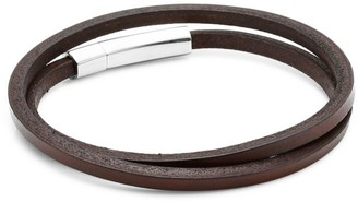 Jonas Studio Village Leather & Stainless Steel Double-Wrap Bracelet