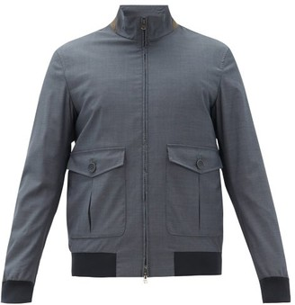 Herno X Loro Piana Stand-collar Technical Canvas Jacket - Dark Blue