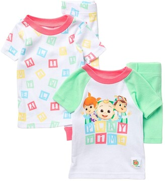 AME Blocks 4-Piece T-Shirt & Shorts Pajama Set