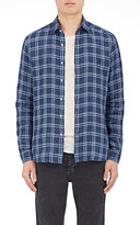 Barneys New York Men's Plaid Linen Shirt