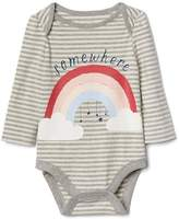 Gap Graphic long sleeve keyhole bodysuit