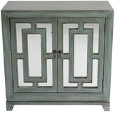 Heather Ann 2 Door Wood Cabinet with Mirror
