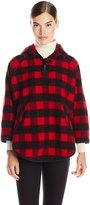 Woolrich White Collection Women's Mill Wool Plaid Popover Cape