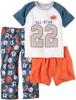 "Carter's Little Boys' Toddler ""Sleep All-Star"" 3-Piece Pajamas"