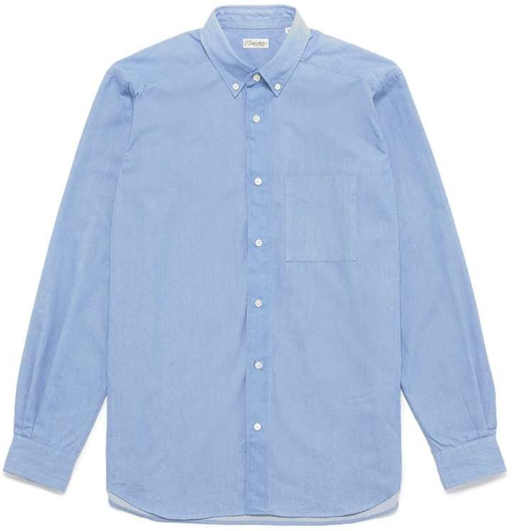 Camoshita Button down collar chambray shirt
