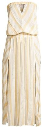 Ramy Brook Olympia Strapless Blouson Cutout Dress