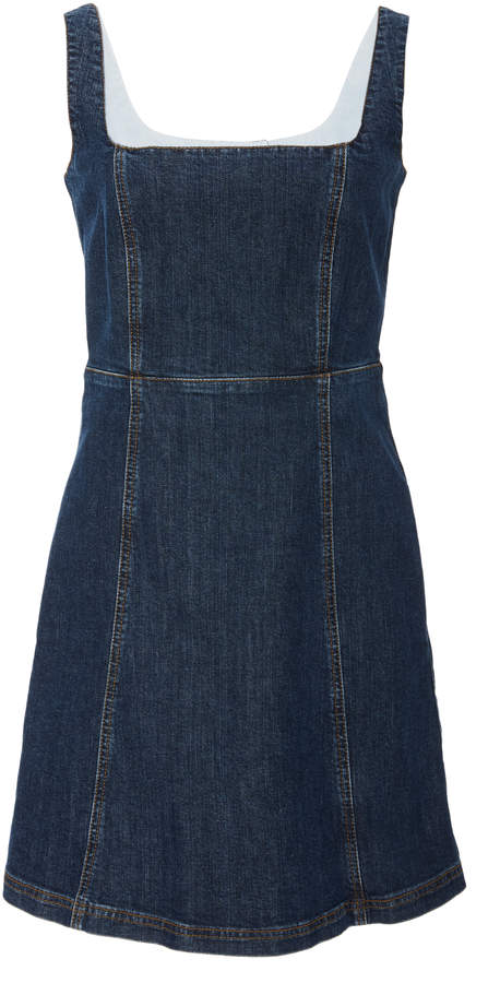ALEXACHUNG Denim Mini Dress