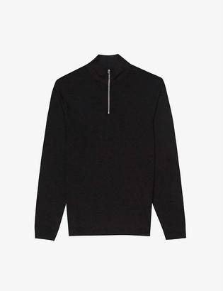 Reiss Berry funnel-neck cotton-blend jumper