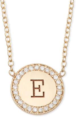 Chicco Zoe 14k Personalized Initial Disc Pendant Necklace w/ Diamonds