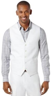 Perry Ellis Men's Big and Tall Linen Blend Vest