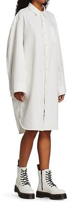 R 13 Oversized Long-Sleeve Button-Up Shirtdress