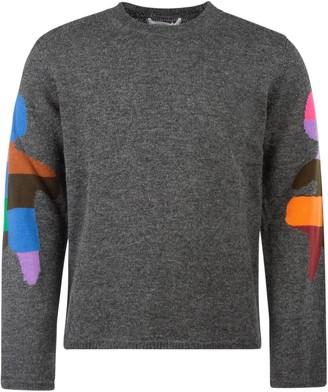 Comme des Garçons Shirt Colour Block Intarsia Pullover