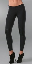 Motorcycle Leggings with Knee Patch