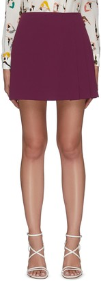 Alice + Olivia 'SEMIRA' Side Pleat Mini Skirt