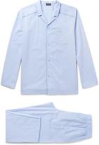 Hanro - Contrast-tipped Cotton-jacquard Pyjama Set