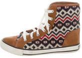 Tory Burch Suede High-Top Sneakers