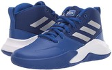 adidas Kids Kids Own The Game Wide Basketball (Little Kid/Big Kid) (Royal/Matte Silver/Grey) Kids Shoes