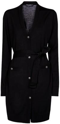 Dolce & Gabbana Belted virgin wool cardigan