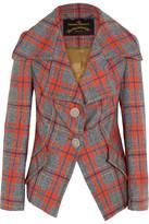 Vivienne Westwood Propaganda Tartan Wool Jacket - Red