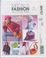 Mccall's Fashion Accessories Sewing Pattern #M4727 Sassy Girl Accessories
