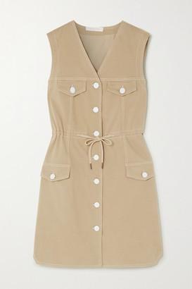 See by Chloe Drawstring Stretch-cotton Gabardine Dress - Tan