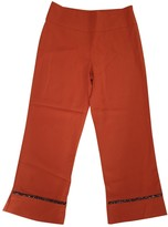 Patrizia Pepe Orange Trousers for Women