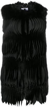 Blumarine textured pleat gilet