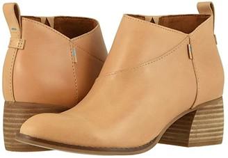 Toms Leilani (Black Leather) Women's Shoes